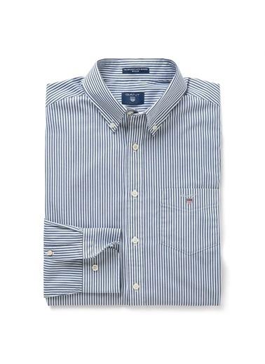Gant Çizgili Regular Gömlek Lacivert